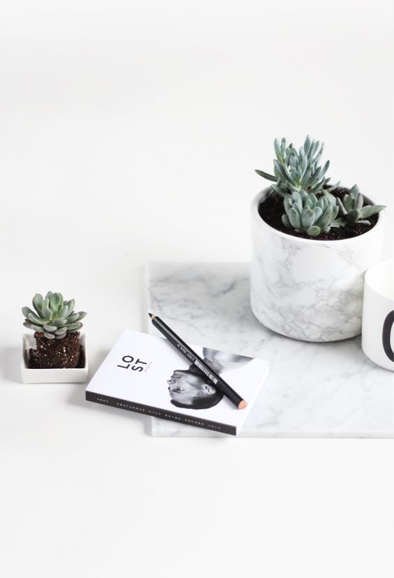 Marble Plant Pot // In need of a detox? 10% off using our discount code 'Pin10' at www.ThinTea.com.au: