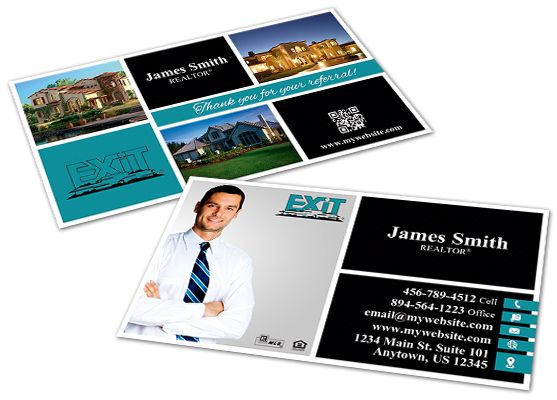 Exit Realty Business Cards Exit Realty Business Card Templates In 2020 Keller Williams Business Cards Realtor Business Cards Printing Business Cards