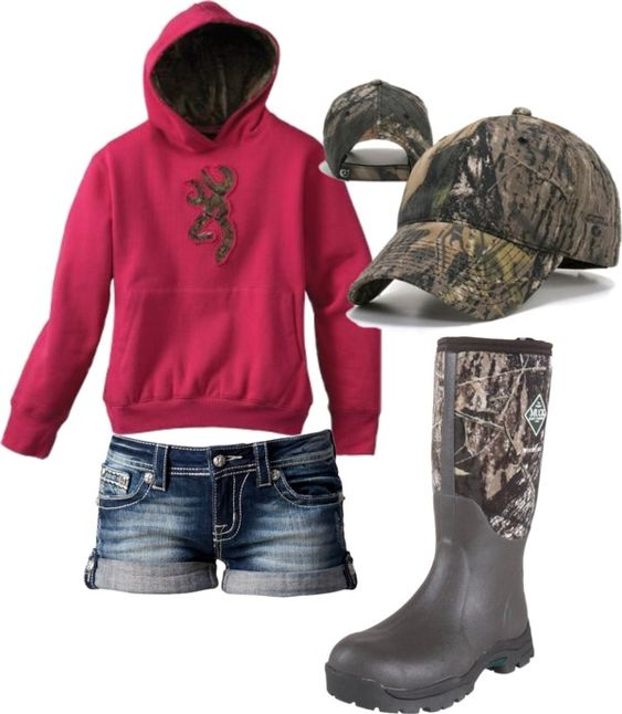 ok..first off if you have a hoodie.. you dont need the cap but you could wear it anyway...BUT if it is cold enough that you need Muck boots plus a hoodie than you arent going to be wearing shorts... just saying..