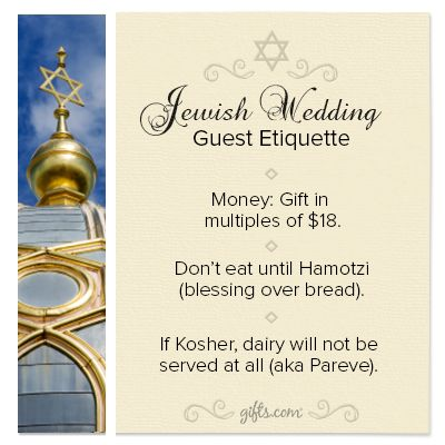 Etiquette For Wedding Gifts When Not Attending : Jewish Wedding Guest Etiquette. If you are attending a Jewish wedding ...
