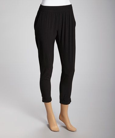 Another great find on #zulily! Black Capri Pants by Basically Me #zulilyfinds