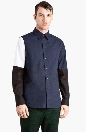Marni Colorblock Woven Shirt  Nordstrom