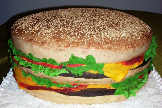 """16"""" double cheeseburger #grooms #cake *FOR BRETT* LOL"""