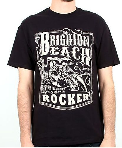 Lucky 13 t shirt men 39 s brighton beach rocker english for Brighton t shirt printing