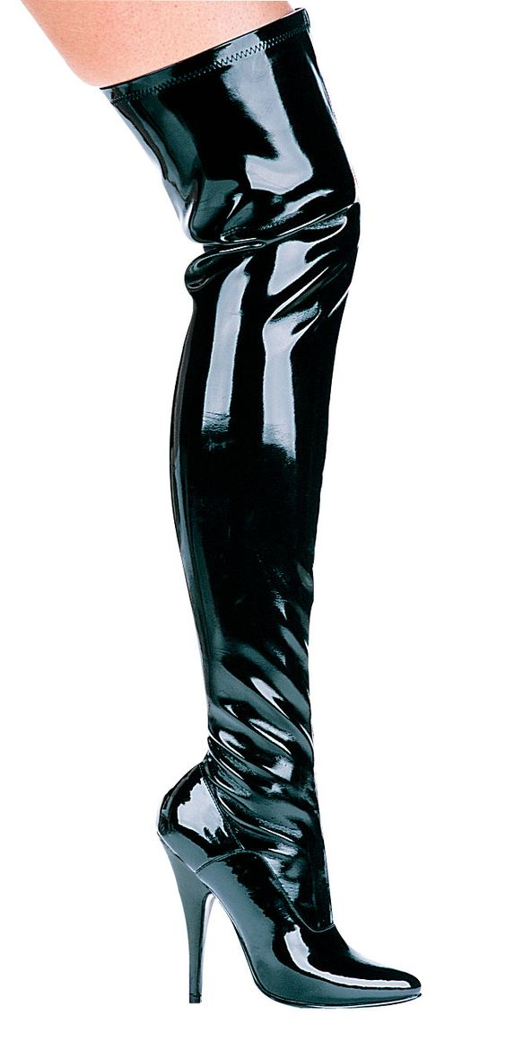 Ellie Shoes 511-ALLY 5 Inch Heel Thigh High Stretch Boot Women/'s Size Shoe