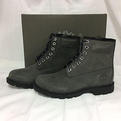 Brand New Timberland Mens 6in Waterproof Nubuck Basic Boots,Grey, 13