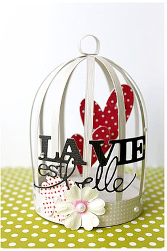 Cages oiseaux bricolage and oiseaux on pinterest for Cages a oiseaux decoratives
