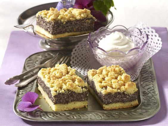 Mohnkuchen (Poppy Seed Cake)