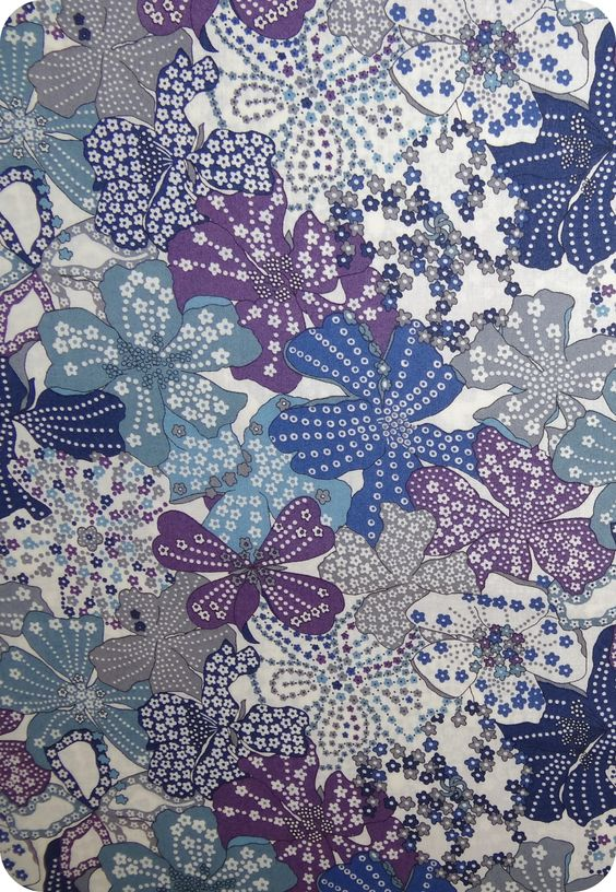 Tissu Liberty Mauvey gris violet dans la Rue des petits Bonheurs