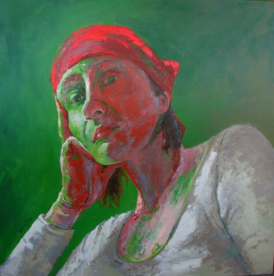 ♀ Painted Art Portraits ♀ Mirjana Psakis   Self-Portrait