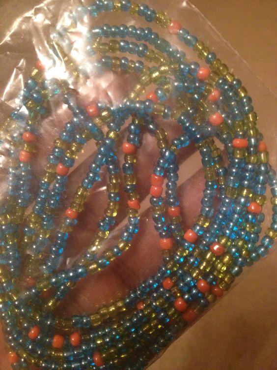 #beads #green #gold