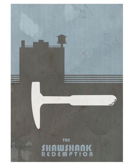 The Shawshank Redemption (1994) ~ Minimal Movie Poster by David Peacock