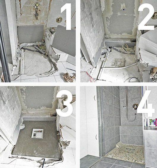 Umbau Bodengleiche Dusche Mit Plancofix Dusche Bodengleiche Dusche Selber Bauen Dusche Bodengleich