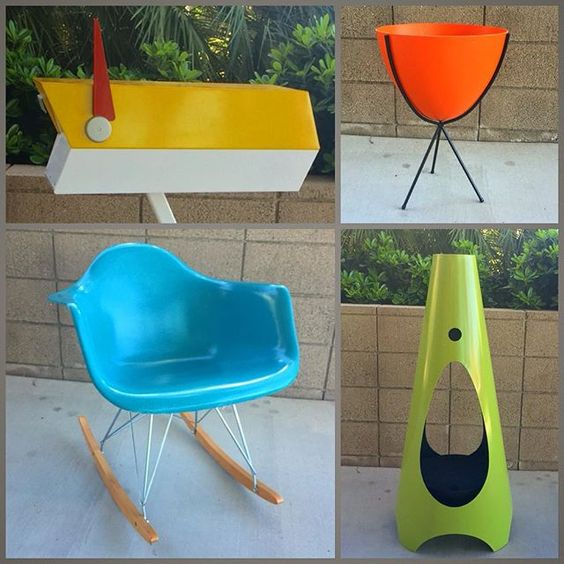 Just a few of our favorite mid-century modern inspired pieces! And in our favorite colors #yellow #orange #aqua #chartreuse