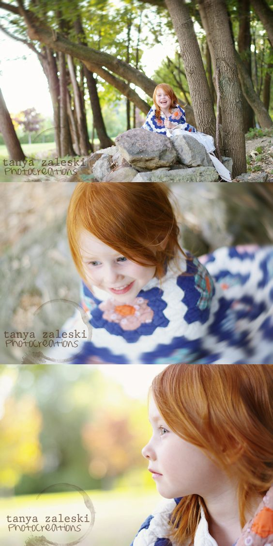 Little redhead photo session...tanya zaleski photocreations blog: Quilted ginger - Montreal's South Shore child photographer