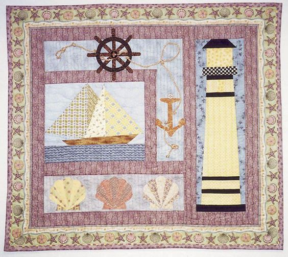 Free Lighthouse Quilt Block Patterns : Quilt, Wall hangings and Patterns on Pinterest