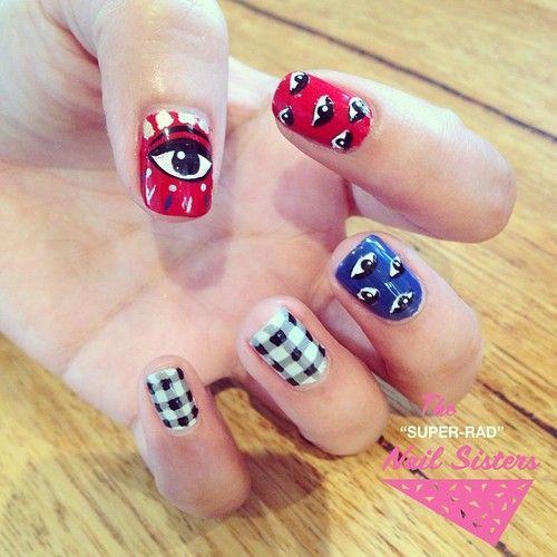 nailsisters:  @kenzoparis_hq eye inspired designs #nailart...