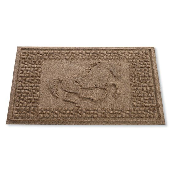 Running Horse Doormat - Horse Themed Gifts, Clothing, Jewelry and Accessories all for Horse Lovers | Back In The Saddle