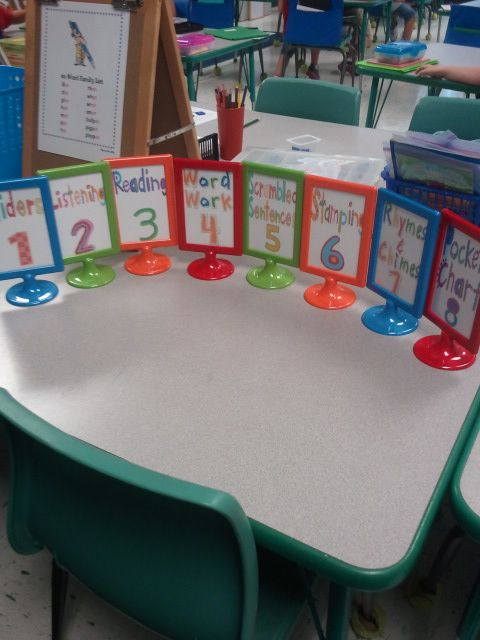 These would be good for carousel activities. You could put the name of the activity and the instructions on each table. Maybe also (next you are going to the _____ table).