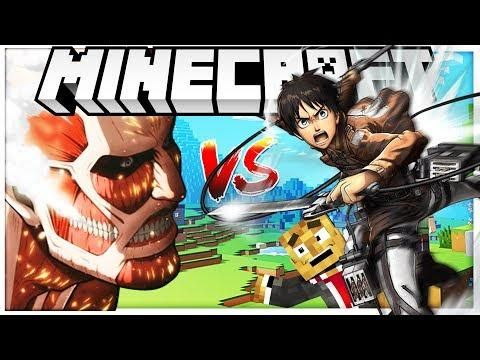 Attack On Titan Anime Mod Castle Defense Minecraft Island Defense Modded Minecraft Minigame Attack On Titan Anime Minecraft Mods Attack On Titan