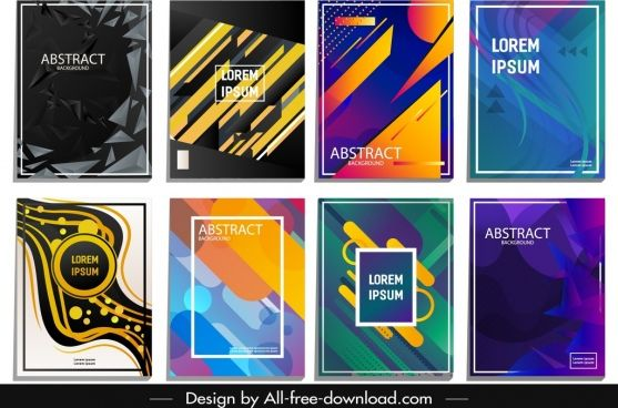 Abstract Background Templates Colored Geometric Dynamic Decor