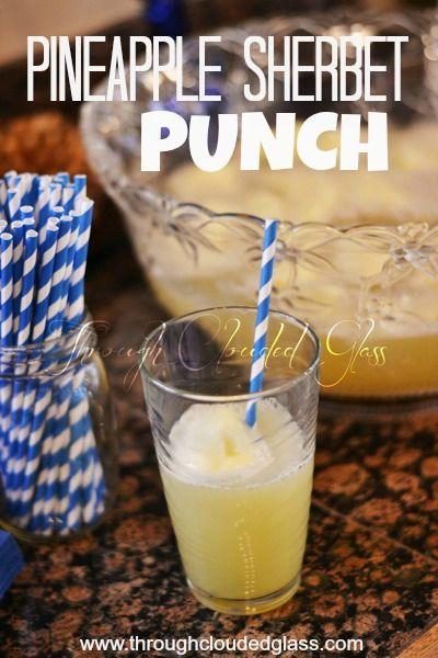 yummy pinapple sherbet punch for a baby shower you could also use