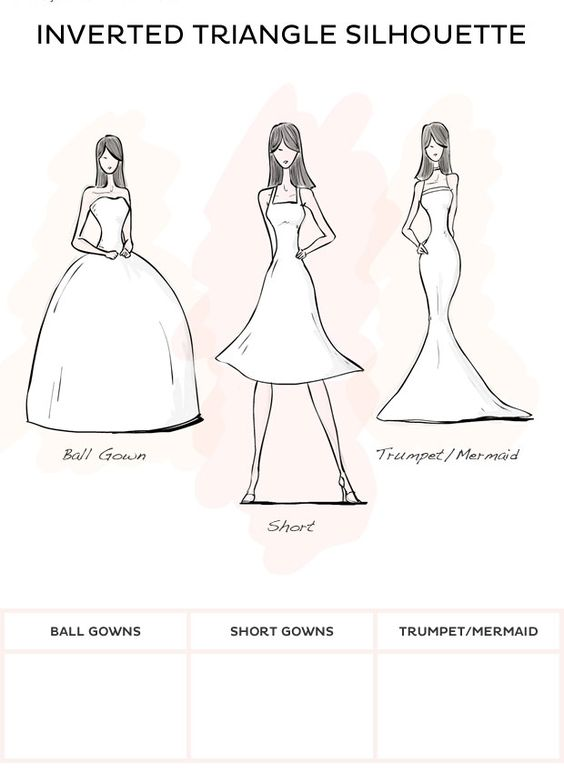 Wedding Dress Style - Inverted Triangle style wedding dresses from David's Bridal