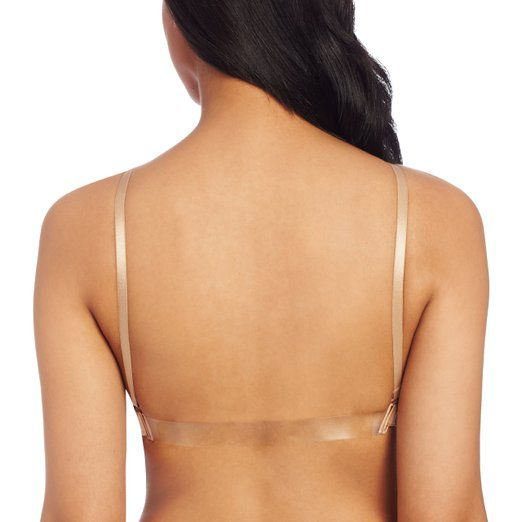 Capezio Women's Seamless Clear Back Bra With Transition Straps, Nude, Medium at…
