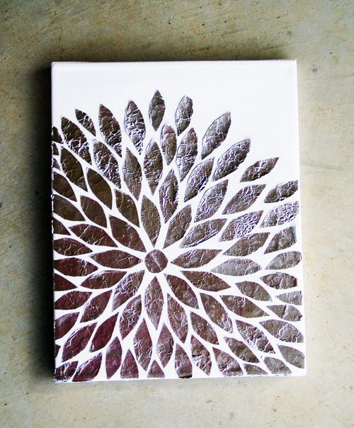 DIY Foil Art - Step by Step Instructions - Fun & Easy Art Work! - The SC  Design Studio | Crafty | Pinterest | Foil art, Easy art and Studio