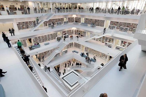 Stuttgartu0027s Refreshingly New Modern Library Bibliothek - cafe mit buchladen innendesign bilder