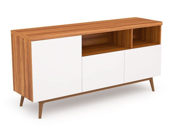 "Andrej Sideboard Media | Mid-Century Modern | Kure Collection  33""h x 60""w x 18.5""d  $880"