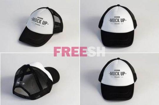 Download Free Mock Up Mockup Trucker Cap Trucker