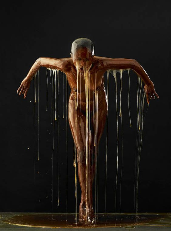 4.TheDancer_2012Blake Little - photography-759x1024. Sticky Situation: Blake Little's Honey Covered Models Look As If They Are Frozen In Amber