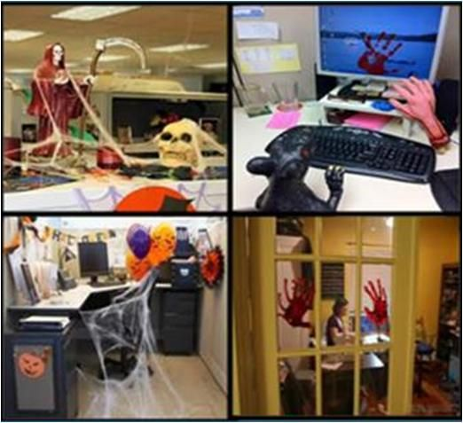 Halloween Cubicle Decoration Ideas: How To Decorate Office For Halloween #stepbystep