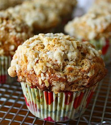 Banana Brown Sugar Muffins with Oat-Streusel Topping
