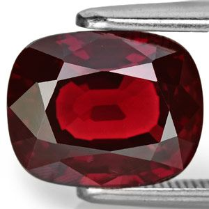 4.08-Carat Fiery Orangy Red Cushion-Cut Burmese Spinel