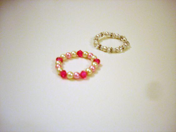 Baby bracelets...tried them on Mason too:}