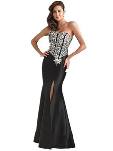 LL4 Unique Rhinestones Slitted Evening Dresses party full length prom gown ball dress robe (8, BLACK) LondonProm http://www.amazon.co.uk/dp/B00KLGQMNM/ref=cm_sw_r_pi_dp_adFStb1BYC945ARF