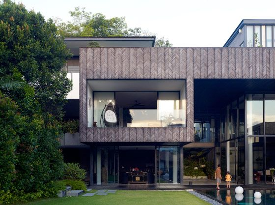Modern home design ideas herringbone houses