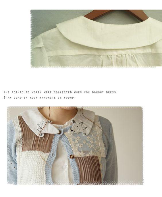 【楽天市場】【D.ホワイトの半袖タイプ再入荷♪6月9日12時&22時より】「sanpo」ひょっこりキツネ襟。シャツブラウストップス:cawaii