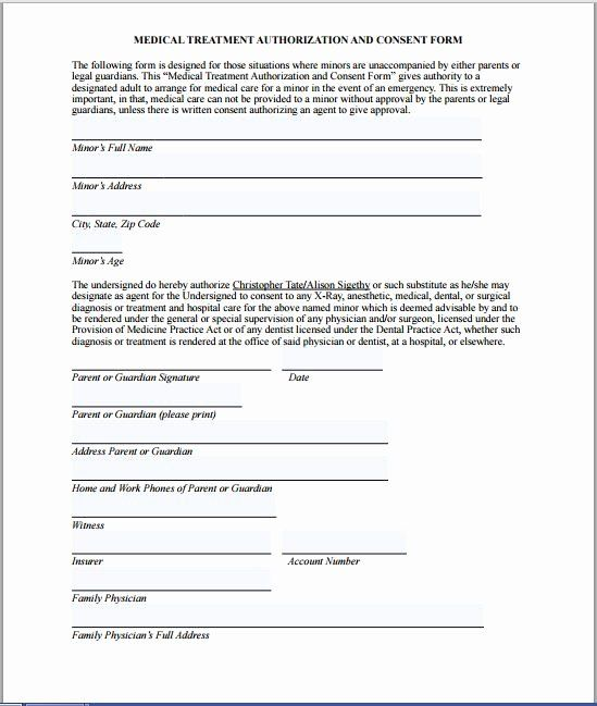 Sample Medical Release Forms Best Of Sample Medical Consent Form Consent Forms Medical Teacher Resume Template