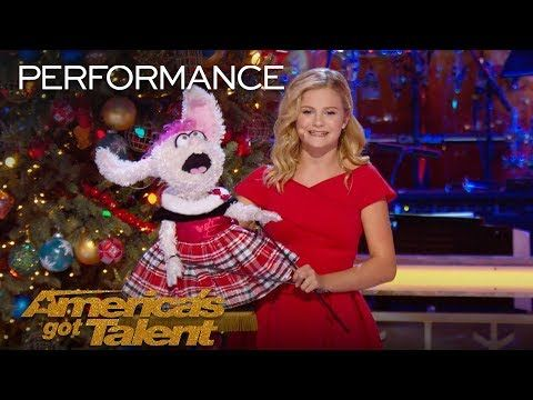 Darci Lynne And Petunia Sing Rockin Around The Christmas Tree My Hometown Christmas Performance Youtube Petunias Singing Rockin