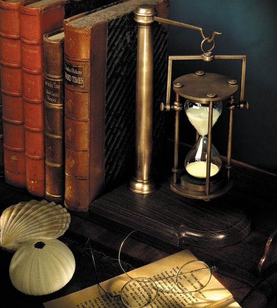 Image result for old hourglass on a desk