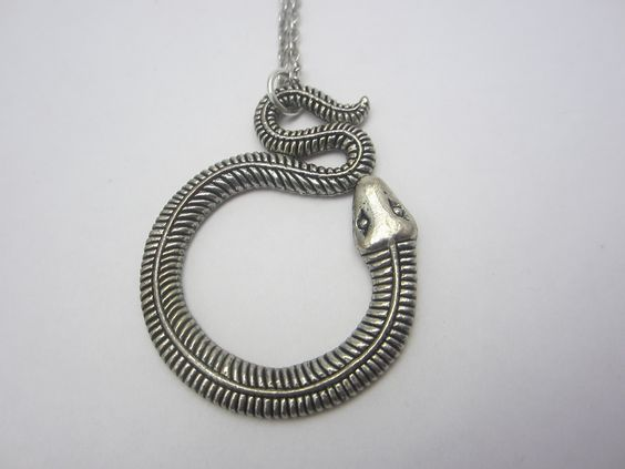 Collier moderne serpent se mordant la queue : Collier par mogs-creations