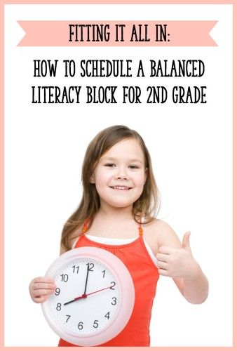 Read this post to find out what your second grade balanced literacy block should include.  You'll also find some sample schedules to try out! {from Learning At The Primary Pond|