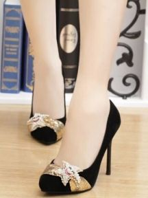 Pointed Crystal Ladies Temperament High Heel Shoes