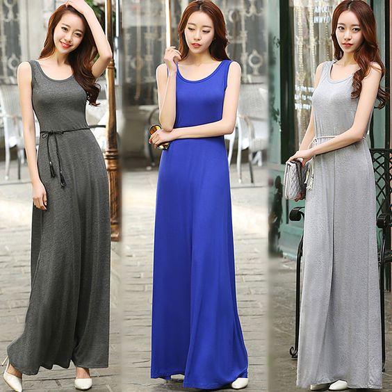 long dress navy blue 990
