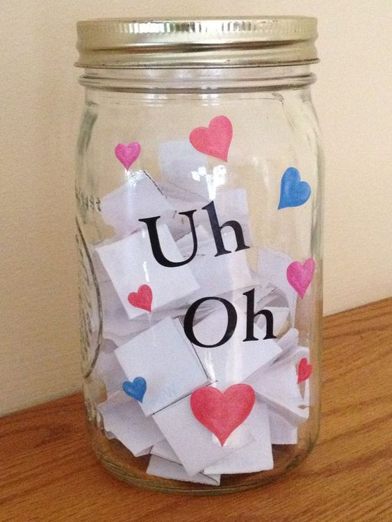 Uh Oh Jar with free printable consequences. A fun, no-yell way to get kids to do what they are supposed to do.