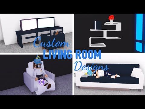 10 Custom Living Room Design Ideas Building Hacks Roblox Adopt Me Its Sugarcoffee Youtube In 2020 Living Room Designs Room Design Cute Room Ideas