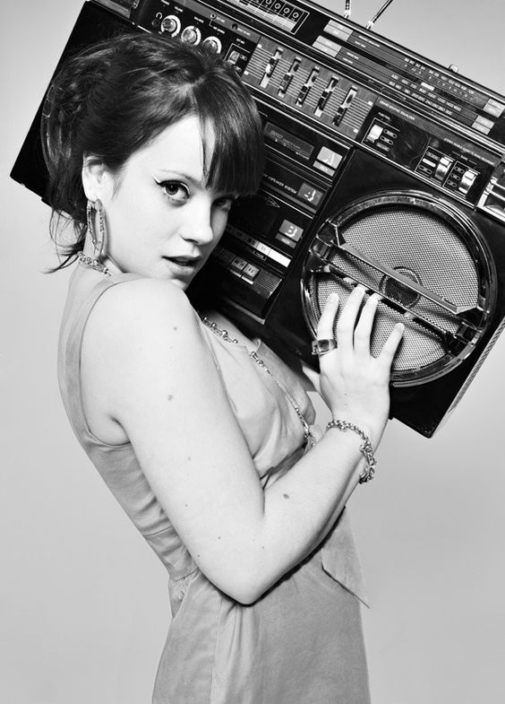 Lily Allen. She's one of those artists people would never expect me to like but I kinda love her.